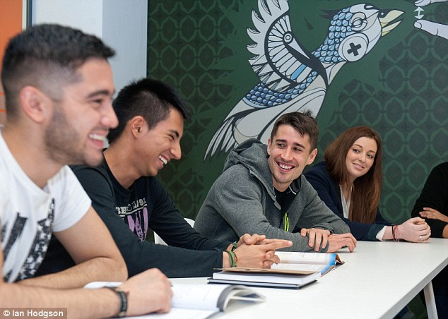 Bojan Krkic welcomes The Daily Mail into the school where he's studying English