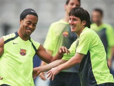 Messi Ronaldinho Barça