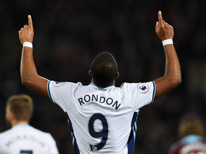 Salomón Rondón lidera la goleada del West Bromwich sobre el Burnley