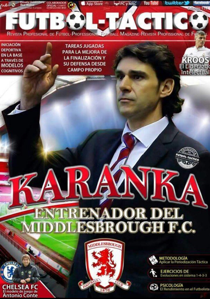 Aitor Karanka talks to Fútbol Táctico about how his footballing role models have impacted on his success as a coach