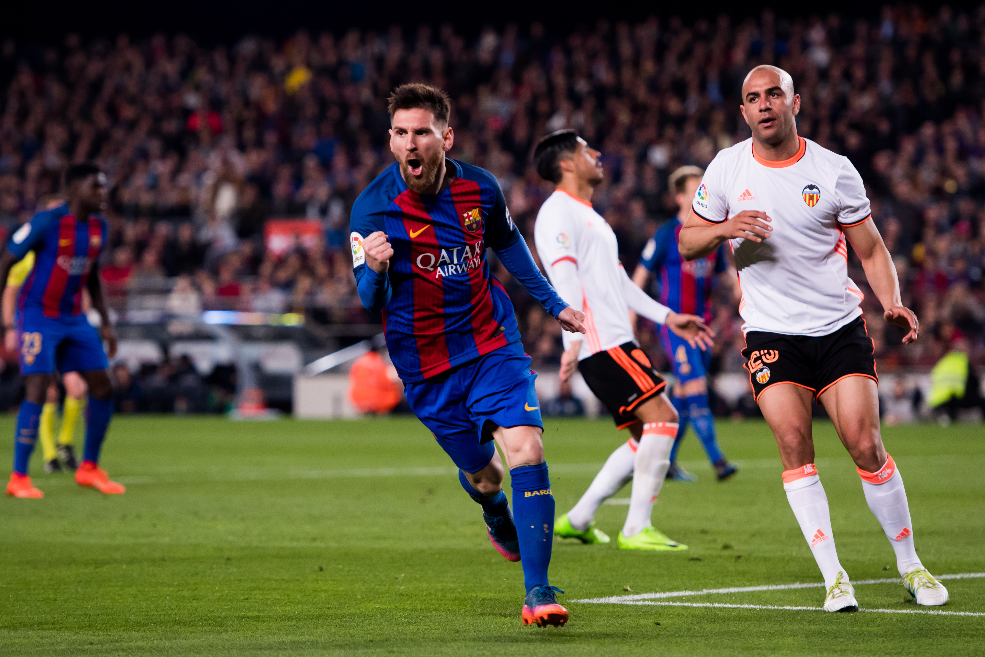 Messi becomes the first player to have hit over 40 goals for an eighth successive season