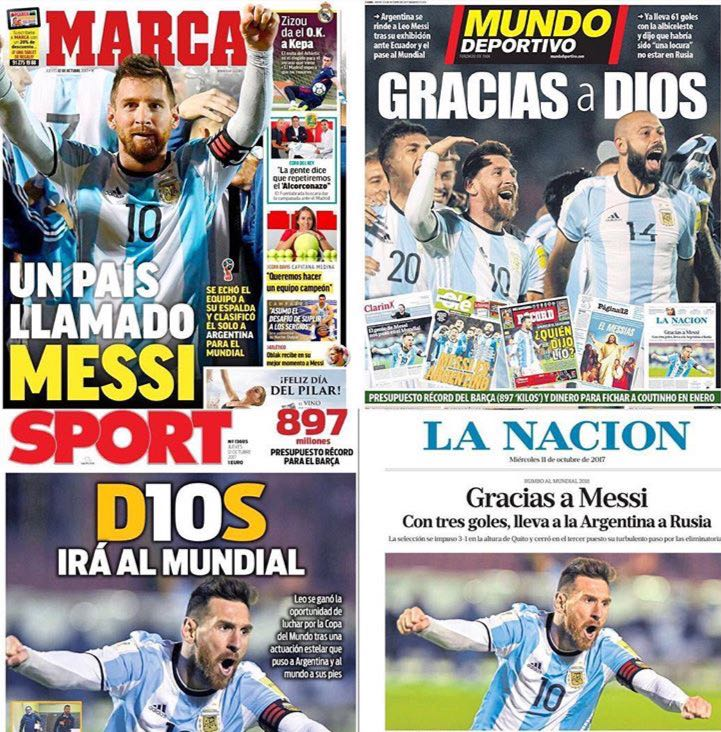 International press pays tribute to Messi