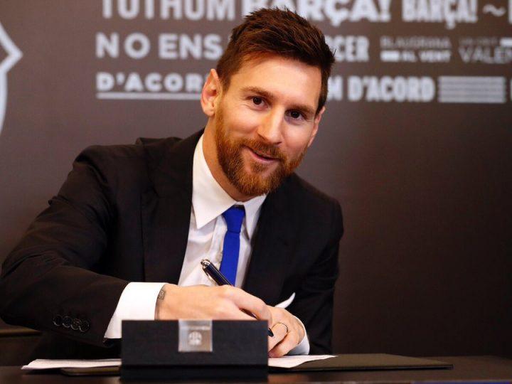 Leo Messi firma su renovación con el FC Barcelona