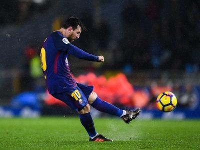 Messi free-kick Anoeta Pulga Argentina FC Barcelona