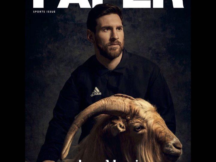 Leo Messi, portada de la revista PAPER