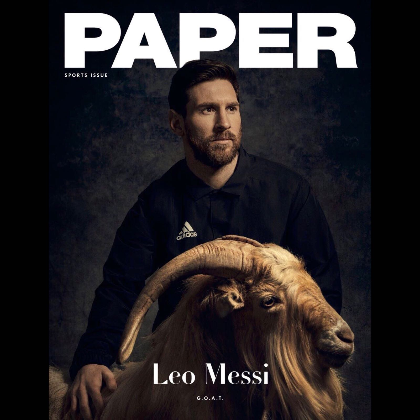 The GOAT Leo Messi graces front cover of PAPER Magazine
