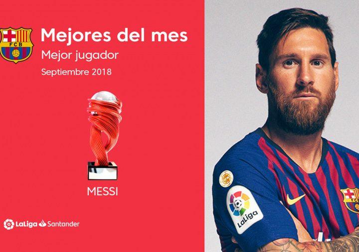 Leo Messi, mejor jugador de la Liga en septiembre