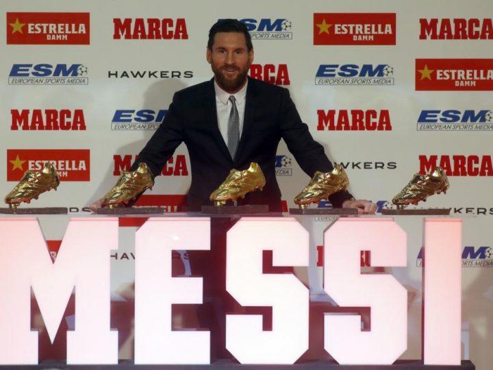 Leo Messi hace de nuevo historia y recoge su quinta Bota de Oro