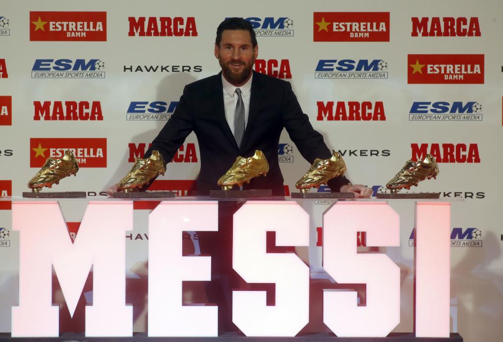 Messi makes history again by picking up 5th European Golden Shoe